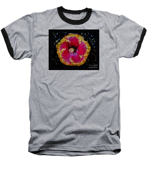 Luminous Bloom Baseball T-Shirt by Darleen Stry