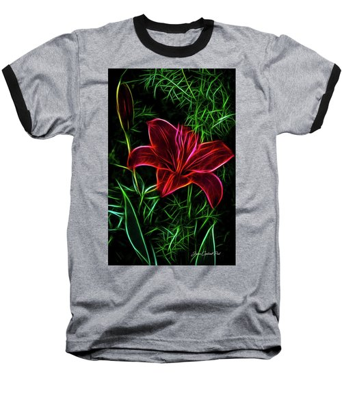Luminous Lily Baseball T-Shirt by Joann Copeland-Paul