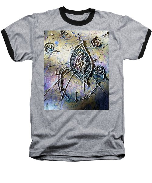 Baseball T-Shirt featuring the painting Luminous  by 'REA' Gallery