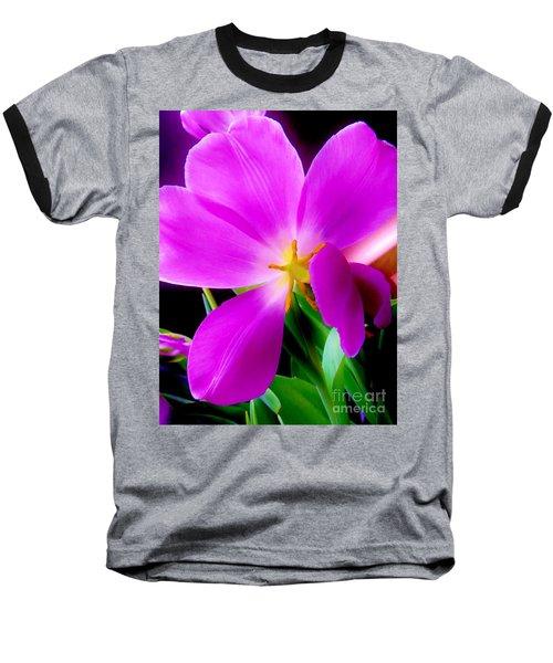 Luminous Tulips Baseball T-Shirt