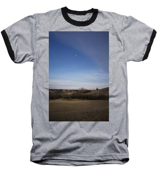 Lumsden Moon Rising Baseball T-Shirt by Ellery Russell