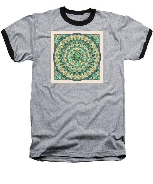 Baseball T-Shirt featuring the digital art Luna Meditation Mandala by Deborah Smith
