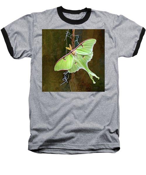 Baseball T-Shirt featuring the digital art Luna Moth by Thanh Thuy Nguyen
