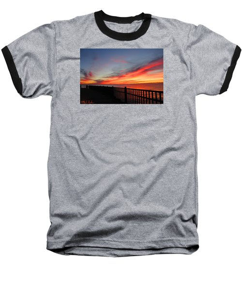 Baseball T-Shirt featuring the photograph Luna Pier by Michael Rucker