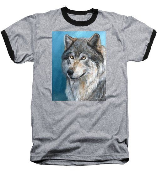 Baseball T-Shirt featuring the painting Luna by Sherry Shipley