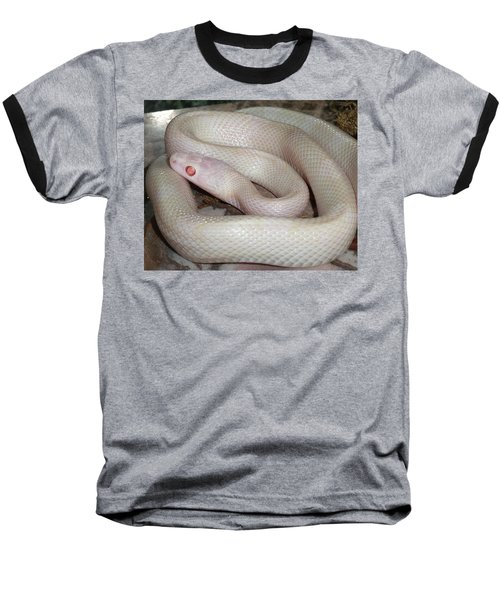 Luna White Snake Baseball T-Shirt by Patricia McNaught Foster
