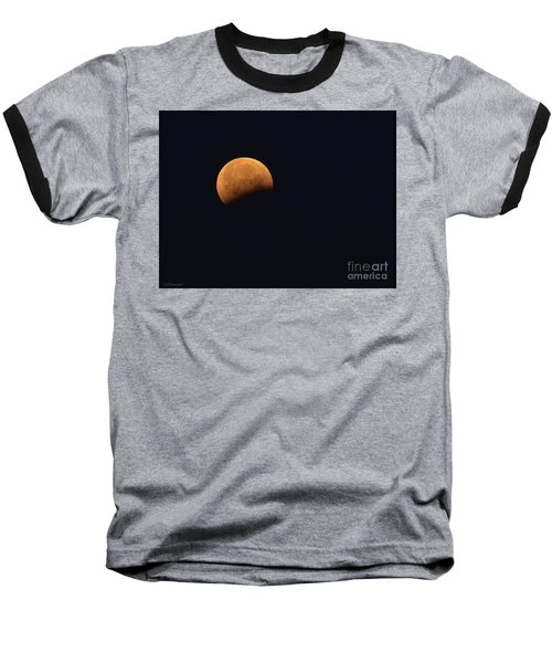 Lunar Blood Moon Eclipse Baseball T-Shirt