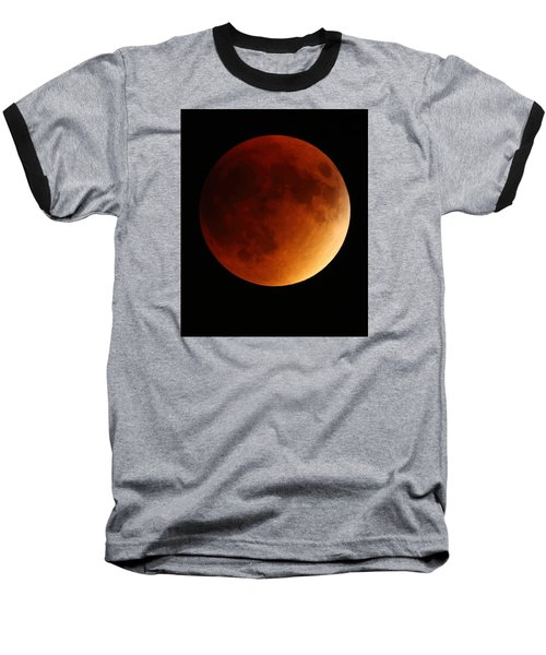 Baseball T-Shirt featuring the photograph Lunar Eclipse 1 by Coby Cooper