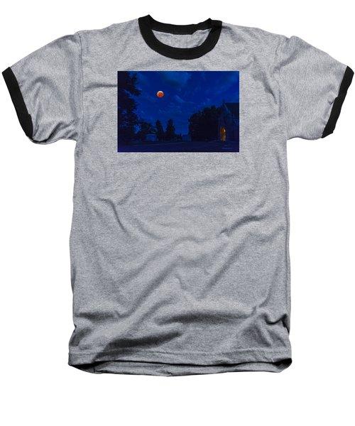 Lunar Eclipse At The Ivy Chapel Baseball T-Shirt