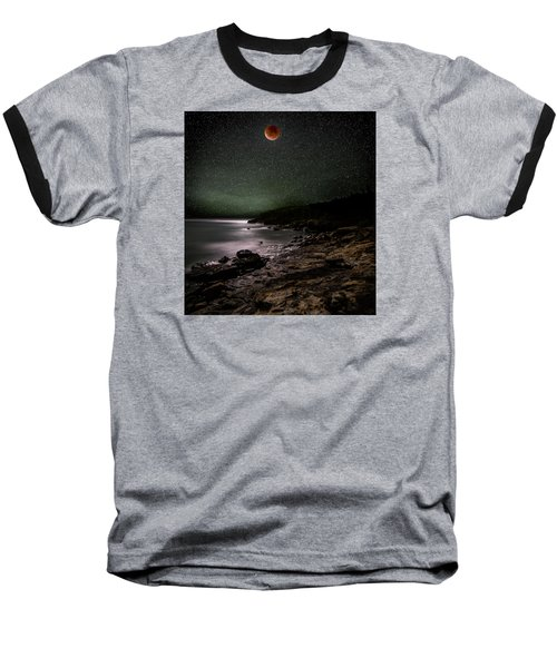 Lunar Eclipse Over Great Head Baseball T-Shirt by Brent L Ander