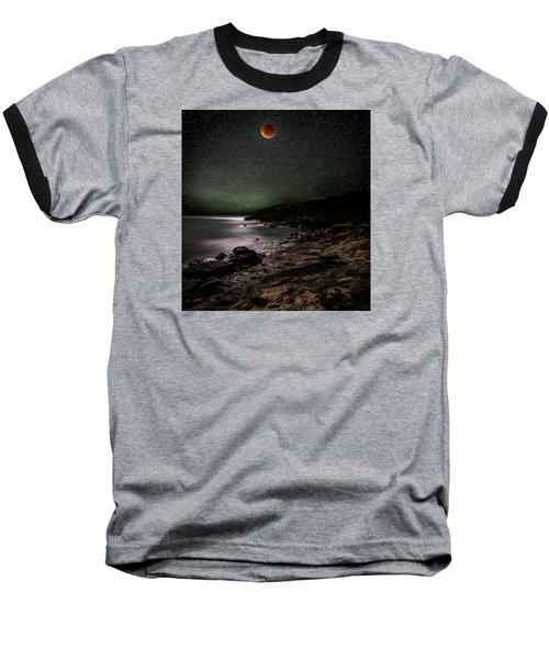 Lunar Eclipse Over Great Head Baseball T-Shirt