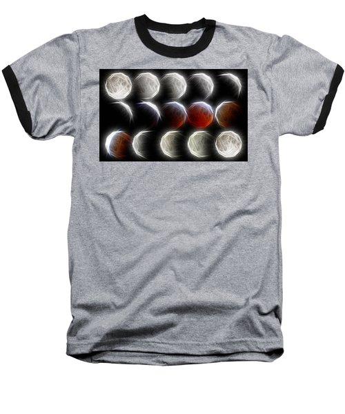 Lunar Eclipse Progression Baseball T-Shirt by Carol Crisafi