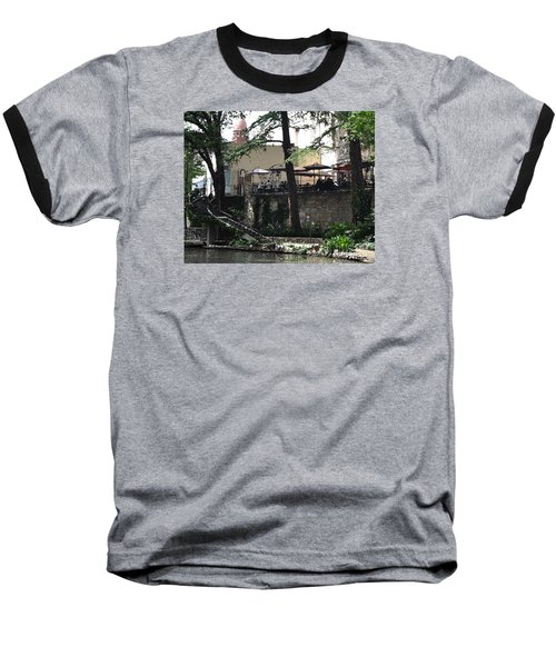 Baseball T-Shirt featuring the digital art Lunch Above The River Walk by Kirt Tisdale