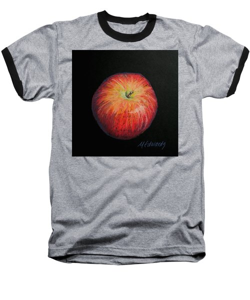 Lunch Apple Baseball T-Shirt by Marna Edwards Flavell