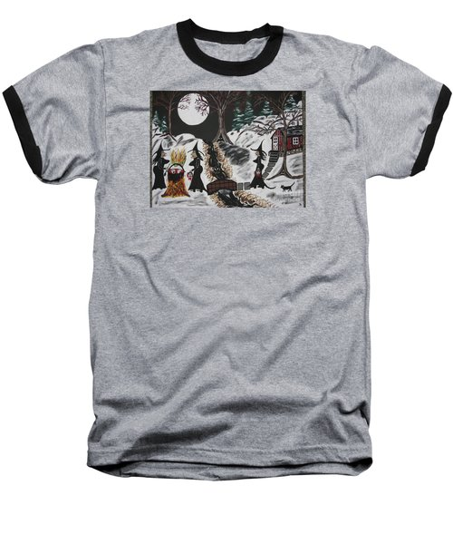 Baseball T-Shirt featuring the painting Lunch by Jeffrey Koss