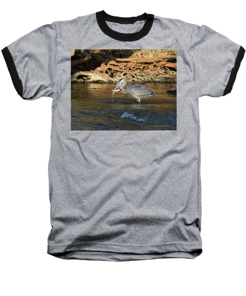 Lunch On The Neuse River Baseball T-Shirt by George Randy Bass