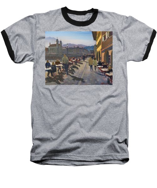 Lunchtime In Luzern Baseball T-Shirt