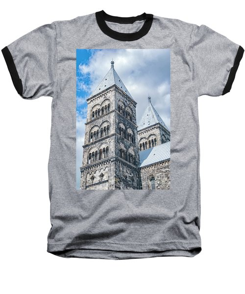 Baseball T-Shirt featuring the photograph Lund Cathedral In Sweden by Antony McAulay