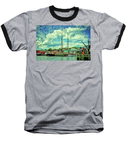 Lunenburg Harbor Baseball T-Shirt