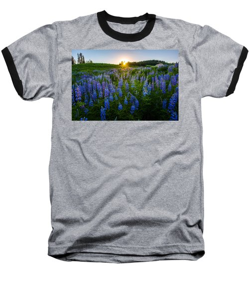 Lupine Meadow Baseball T-Shirt