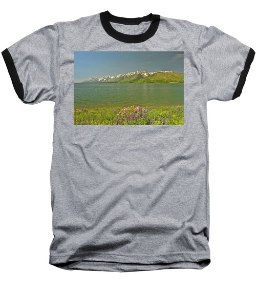 Lupines In The Tetons Baseball T-Shirt