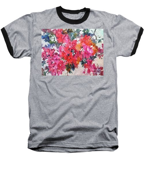 Luscious Bougainvillea Baseball T-Shirt