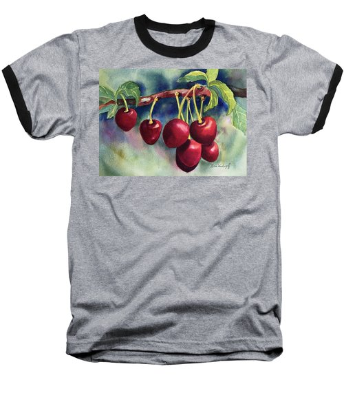 Luscious Cherries Baseball T-Shirt