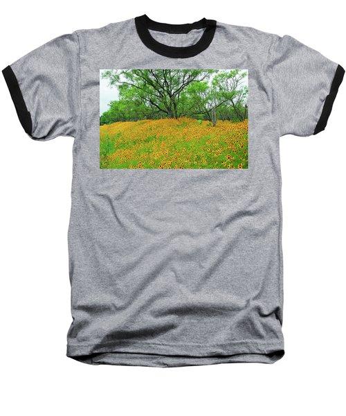 Lush Coreopsis Baseball T-Shirt