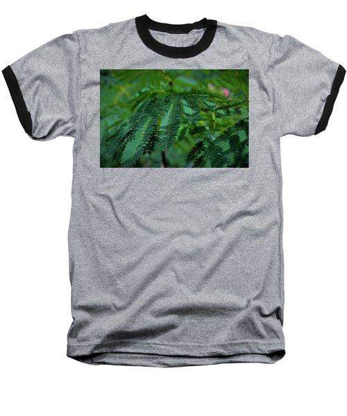 Lush Foliage Baseball T-Shirt by Stefanie Silva