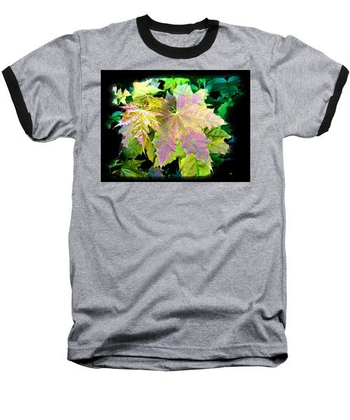 Baseball T-Shirt featuring the mixed media Lush Spring Foliage by Will Borden
