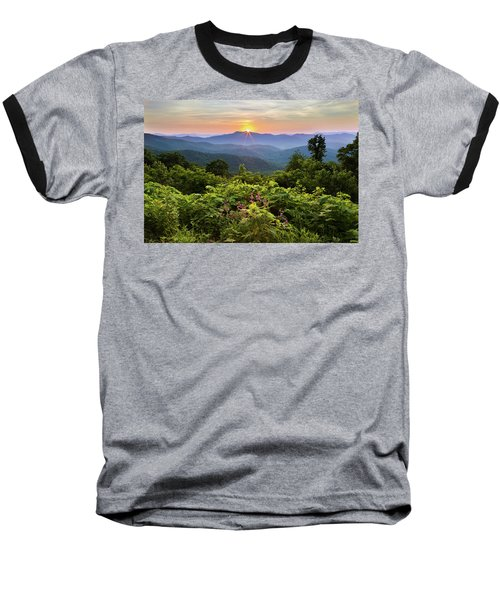 Lush Sunset In June Baseball T-Shirt by Deborah Scannell