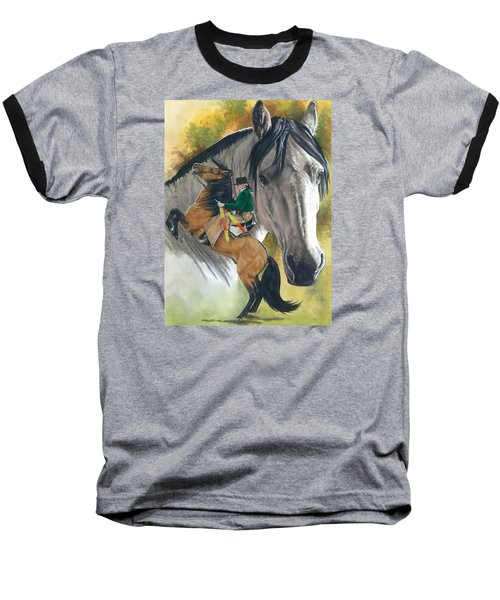 Baseball T-Shirt featuring the painting Lusitano by Barbara Keith