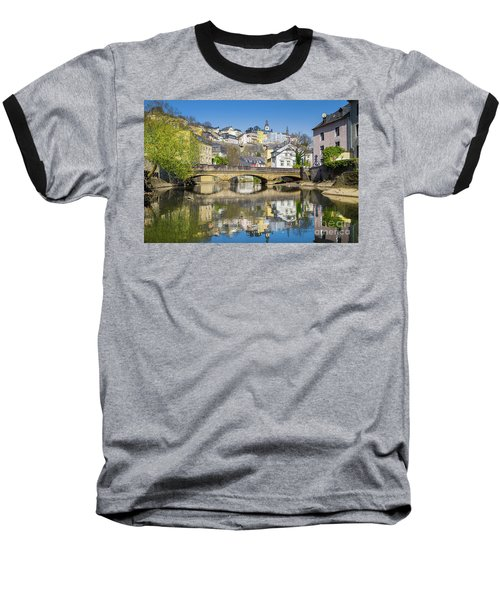 Luxembourg City Baseball T-Shirt by JR Photography
