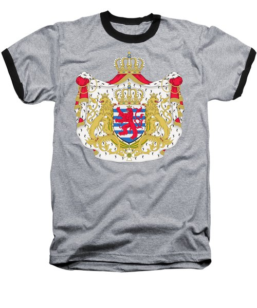 Baseball T-Shirt featuring the drawing Luxembourg Coat Of Arms by Movie Poster Prints
