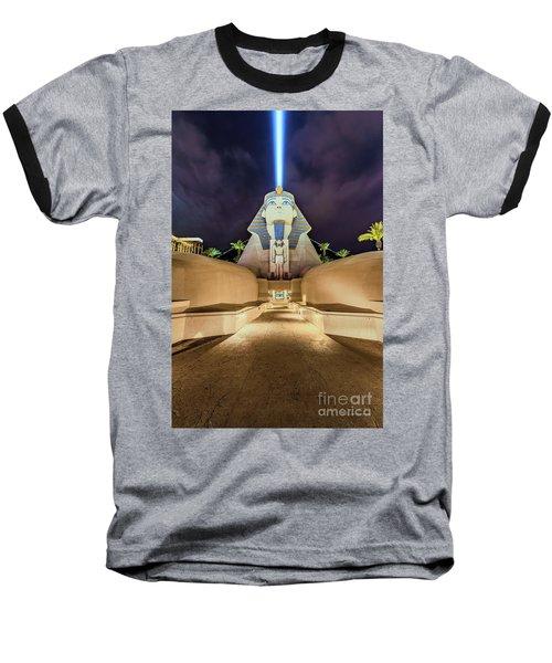 Luxor Casino Egyptian Sphinx Las Vegas Night Baseball T-Shirt