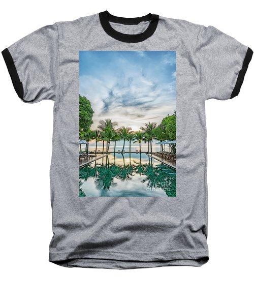 Baseball T-Shirt featuring the photograph Luxury Pool In Paradise by Antony McAulay