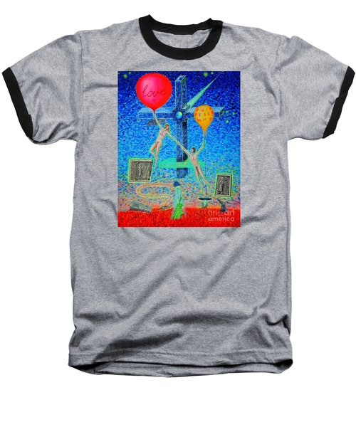 Baseball T-Shirt featuring the painting L.v P. by Viktor Lazarev
