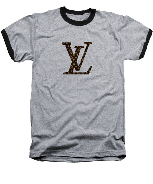 Lv Pattern Baseball T-Shirt
