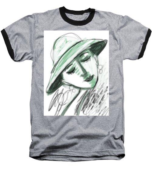 Baseball T-Shirt featuring the digital art Lydia by Elaine Lanoue