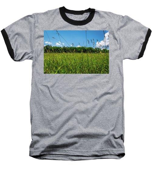 Lying In The Grass Baseball T-Shirt