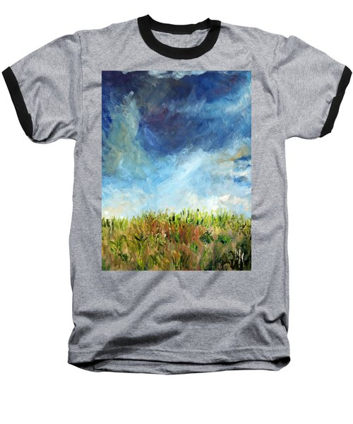 Lying In The Grass Baseball T-Shirt