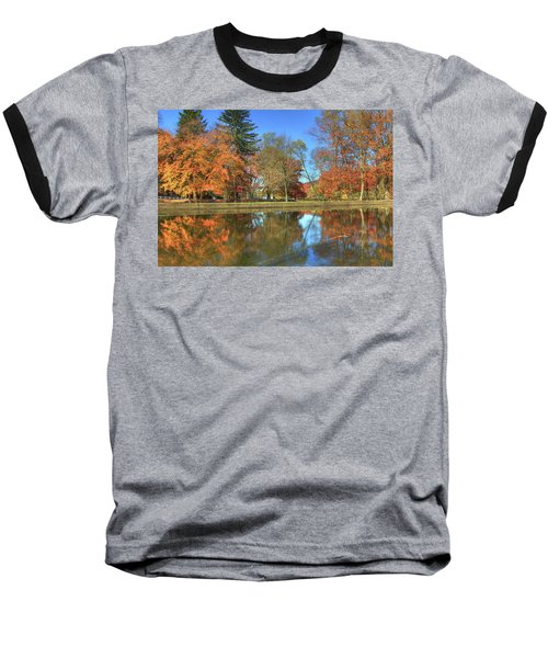 Baseball T-Shirt featuring the photograph Lykens Glen Reflections by Lori Deiter