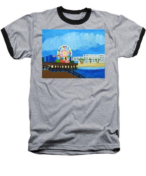 Lyndas Ferris Wheel Baseball T-Shirt by Anthony Larocca