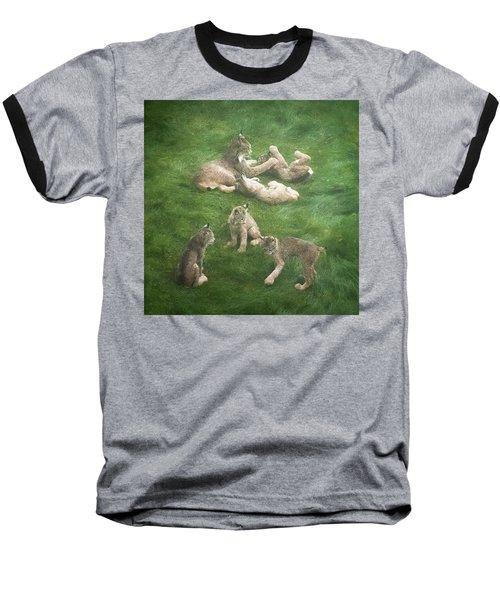 Lynx In The Mist Baseball T-Shirt