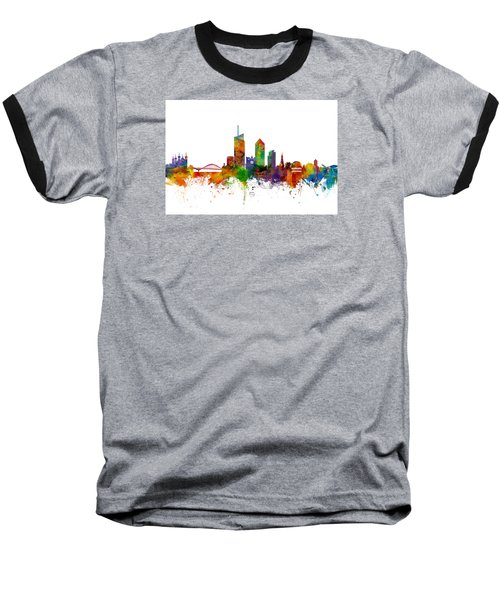 Lyon Skyline Cityscape France Baseball T-Shirt
