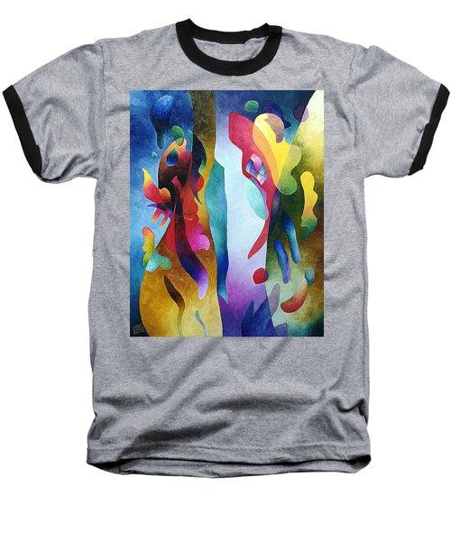 Lyrical Grouping Baseball T-Shirt by Sally Trace
