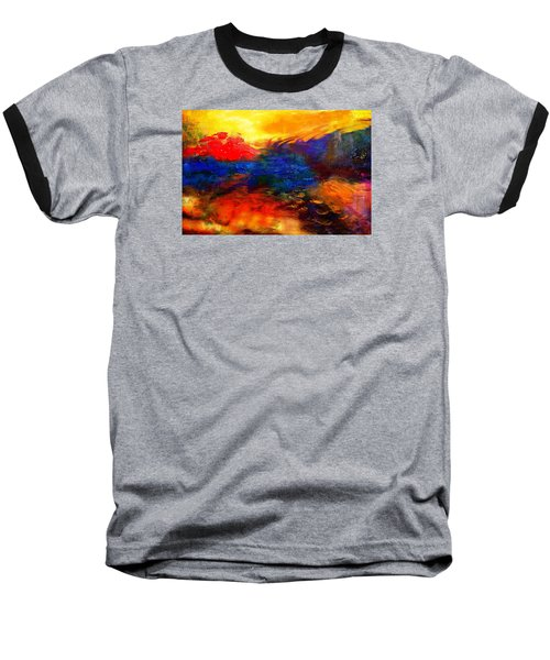 Lyrical Landscape Baseball T-Shirt by Diana Riukas