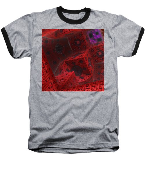 Baseball T-Shirt featuring the digital art M Cubed by Lyle Hatch