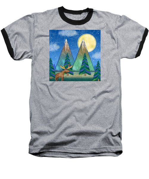 M Is For Mountains And Moon Baseball T-Shirt