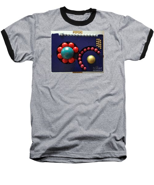 Baseball T-Shirt featuring the painting M O D A  Garden by James Lanigan Thompson MFA